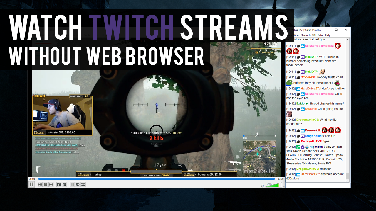 Watch Twitch Streams WITHOUT a Web Browser